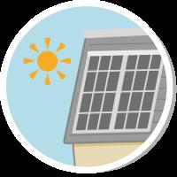 solar pv button